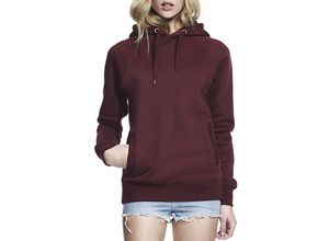 Continental Clothing Unisex Pullover Hoodie mit Seitentaschen - claret red