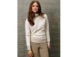 Walbusch Damen Pullover Rollkragen Weiß einfarbig Gr. 38, 40, 42, 44, 46, 48